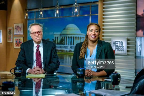 Michael Gerson Columnist The Washington Post and Heather McGhee Democratic Strategist President Demos appear on Meet the Press in Washington DC...
