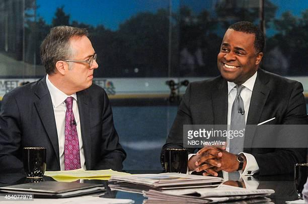 Michael Gerson OpEd Columnist Washington Post left and Kasim Reed Mayor of Atlanta appear on Meet the Press in Washington DC Sunday August 24 2014