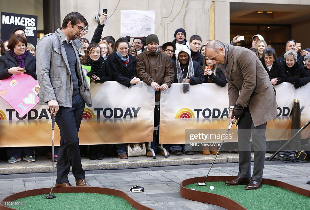 Michael Phelps and Matt Lauer appear on NBC News' 'Today' show --