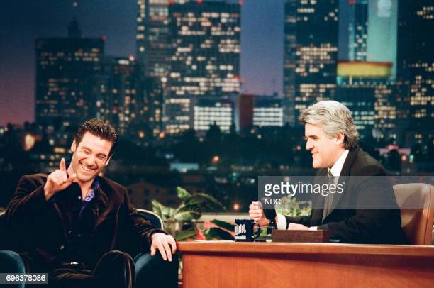 Michael T Weiss during an interview with Jay Leno on January 7 1998