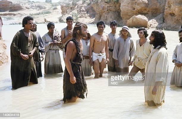 Michael York as John the Baptist Robert Powell as Jesus Photo by NBC/NBCU Photo Bank