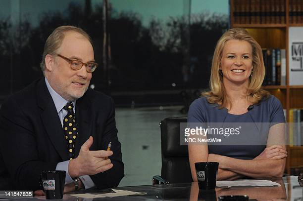 Mike Murphy Republican strategist left and Katty Kay Washington Correspondent and Anchor BBC World News America right appear on Meet the Press in...
