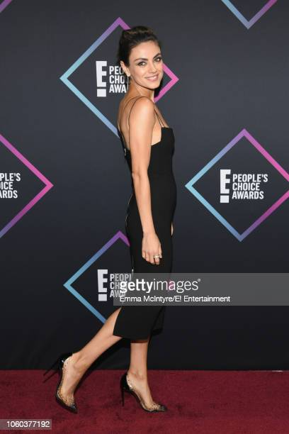 Mila Kunis arrives to the 2018 E People's Choice Awards held at the Barker Hangar on November 11 2018 NUP_185068