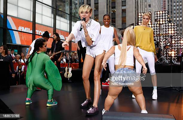 Miley Cyrus appears on NBC News' 'Today' show