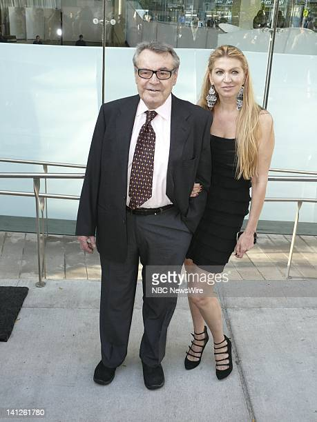 Milos Forman asn Martina Zborilova arrive at The Film Society of Lincoln Center's 37th Annual Chaplin Award Tribute Honoring Michael Douglas on May...