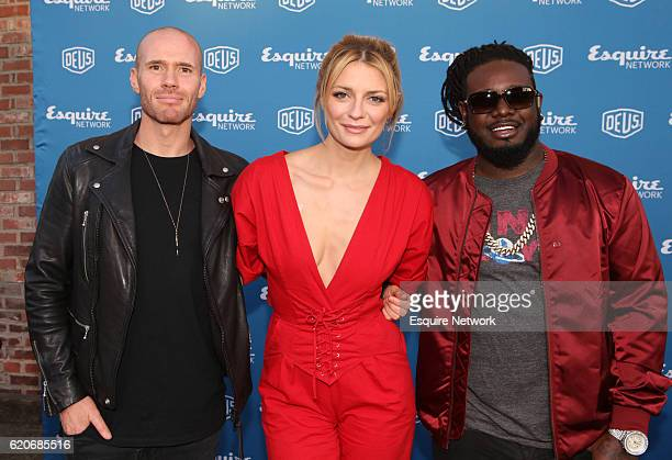 Mischa Barton Oliver Trevena and TPain from 'Joyride' at Esquire Network's 'Joyride' and 'Wrench Against the Machine' press event at Deus Ex Machina...