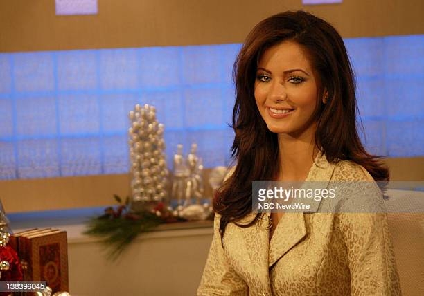 Miss Puerto Rico Ingrid Marie Rivera in her first live television interview since she won the Miss Universe title after her gowns and makeup had been...