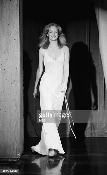 Model Claudia Jennings arrives on March 29 1978