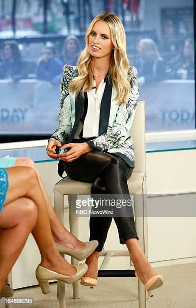 Model Karolina Kurkova appears on NBC News' 'Today' show on March 26 2013