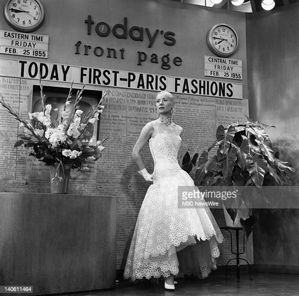 Model wearing Paris fashions on February 25, 1955 -- Photo by: NBC/NBC NewsWire