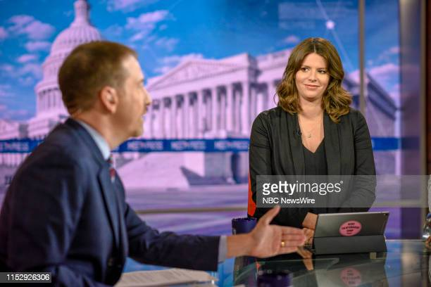 Moderator Chuck Todd and Kasie Hunt NBC News Capitol Hill Correspondent appear on Meet the Press in Washington DC Sunday June 30 2019