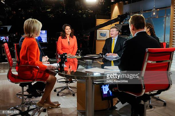 Pictured: Moderator Chuck Todd, Andrea Mitchell, NBC News Chief Foreign Affairs Correspondent, Erick Erickson, Founder, Resurgent, U.S. Rep. Tulsi...