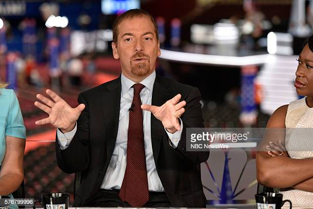 Moderator Chuck Todd appears on Meet the Press in Cleveland OH Sunday July 17 2016