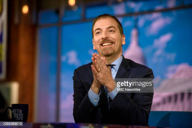Moderator Chuck Todd appears on Meet the Press in Washington DC Sunday Feb 3 2019