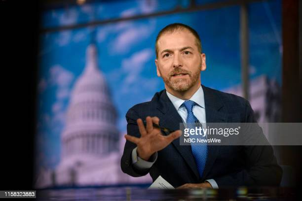 Moderator Chuck Todd appears on Meet the Press in Washington DC Sunday July 28 2019