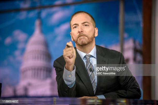Moderator Chuck Todd appears on Meet the Press in Washington DC Sunday August 4 2019