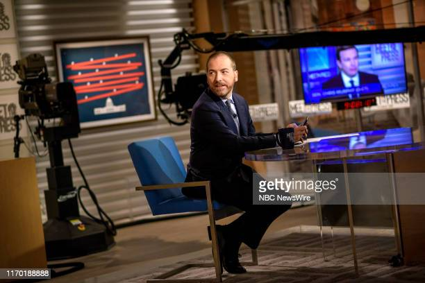 """Pictured: Moderator Chuck Todd appears on """"Meet the Press"""" in Washington, D.C., Sunday September 22, 2019."""