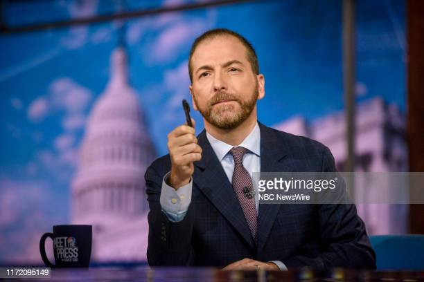"""Pictured: Moderator Chuck Todd appears on """"Meet the Press"""" in Washington, D.C., Sunday September 29, 2019."""