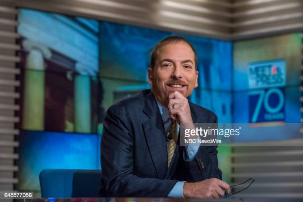 Moderator Chuck Todd appears on 'Meet the Press' in Washington DC Sunday February 26 2017