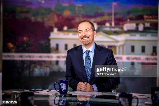 Moderator Chuck Todd appears on 'Meet the Press' in Washington DC Sunday Feb 18 2018