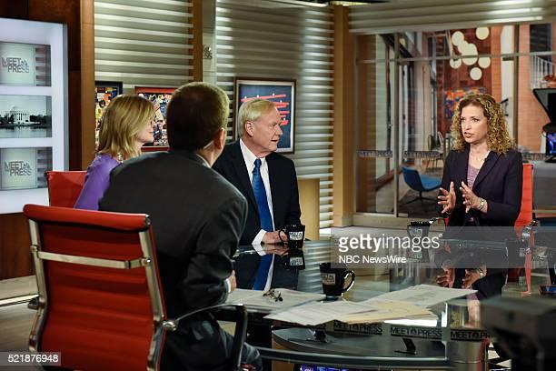 Moderator Chuck Todd Kathleen Parker Columnist The Washington Post Chris Matthews Host MSNBCs Hardball and Rep Debbie Wasserman Schultz Chair...