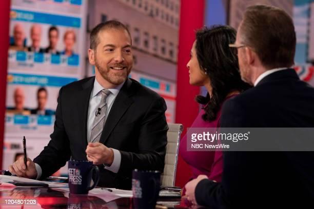 Pictured: Moderator Chuck Todd; Kristen Welker, NBC News White House Correspondent; Robert Gibbs, Former White House Press Secretary to President...
