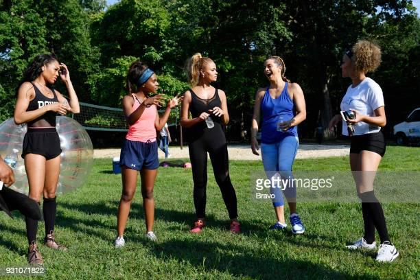 Pictured: Monique Samuels, Candiace Dillard, Gizelle Bryant, Robyn Dixon, Ashley Boalch Darby --