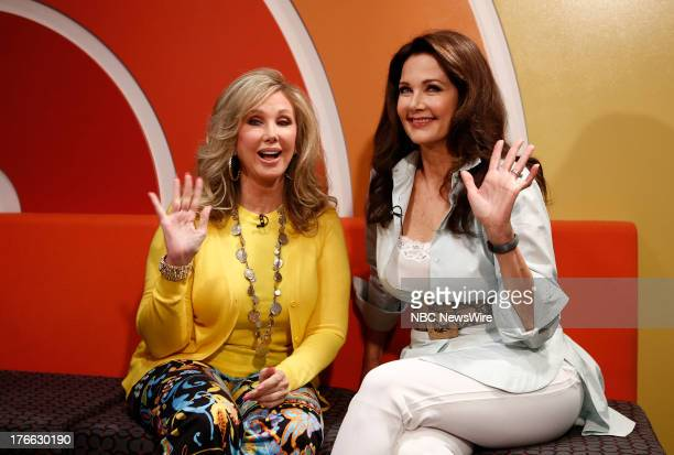 Morgan Fairchild and Lynda Carter appear on NBC News' 'Today' show