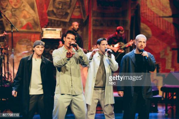 Musical group 98 Degrees performing on April 9 1999