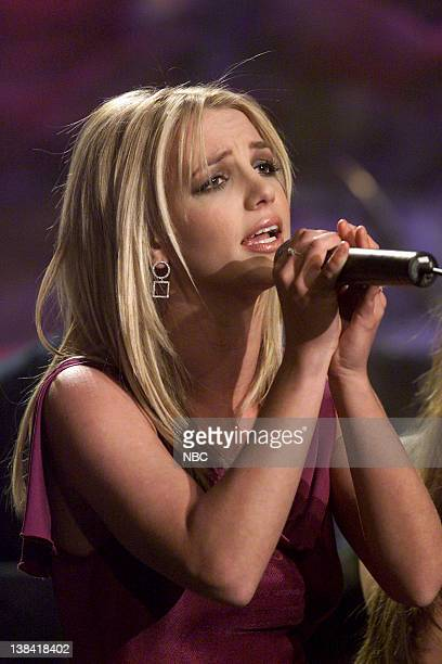 Musical guest Britney Spears performs on February 11 2002