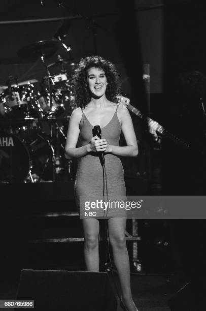 Musical guest Celine Dion performs on July 10 1991