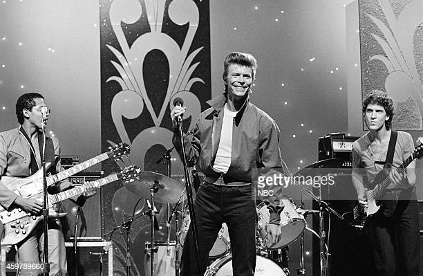 Musical guest David Bowie performs on September 5 1980