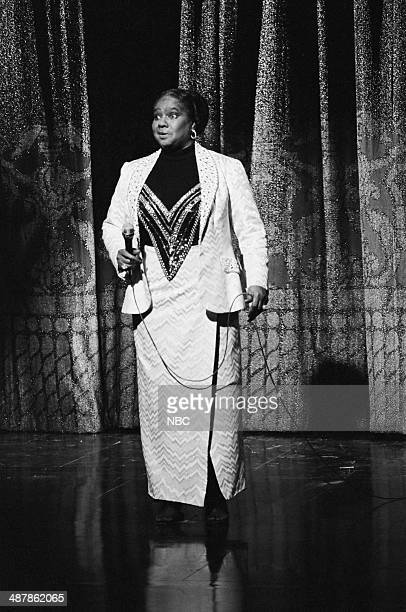 Musical guest Linda Hopkins performs on January 2 1981