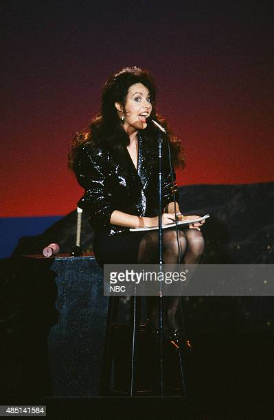 Musical guest Sarah Brightman performs on January 31 1991