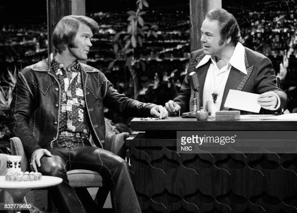 Musician Glen Campbell during an interview with Guest Host Ray Clark on February 10th 1975