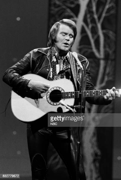 Musician Glen Campbell performing on February 10th 1975