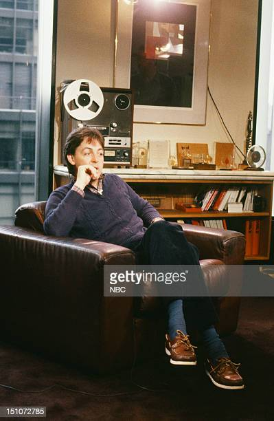Musician Paul McCartney during a 3part interview that aired from April 2628 1982