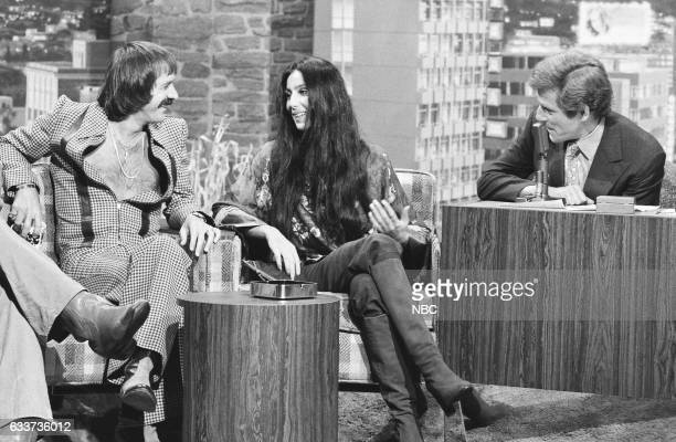 Musicians Sonny Bono and Cher During an interview with Guest Host George Segal on July 14th 1975