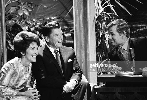 Nancy Reagan California Governor Ronald Reagan host Johnny Carson on November 25 1969 Photo by NBC/NBCU Photo Bank
