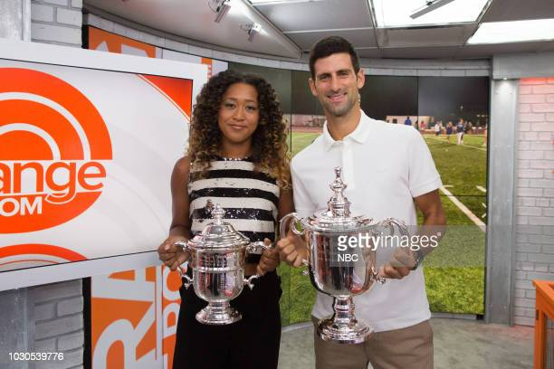 Naomi Osaka and Novak Djokovic on Monday September 10 2018