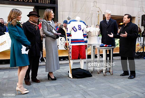 Natalie Morales Al Roker Savannah Guthrie David Gregory and Mike Eruzione appear on NBC News' 'Today' show