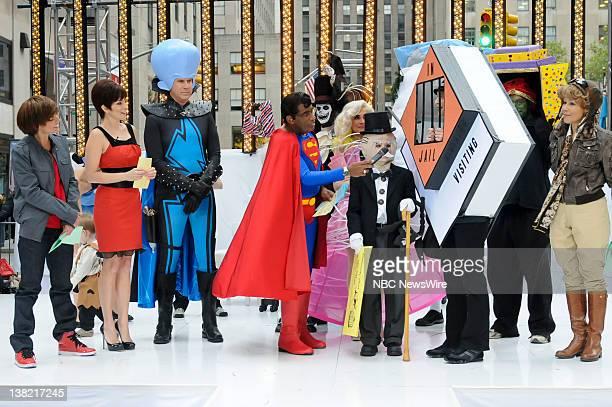 Natalie Morales as Justin Bieber Tina Fey as Roxanne Ritchi Will Ferrell as Megamind Al Roker as Superman Costume winners Julia Allison Mozer Ann...