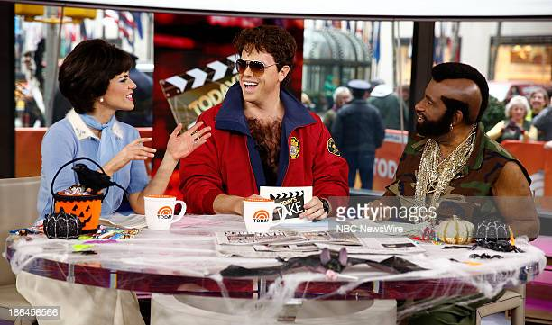 Natalie Morales as Shirley Feeney Willie Geist as David Hasselhoff's Mitchand Al Roker as Mr T appear on NBC News' Today show