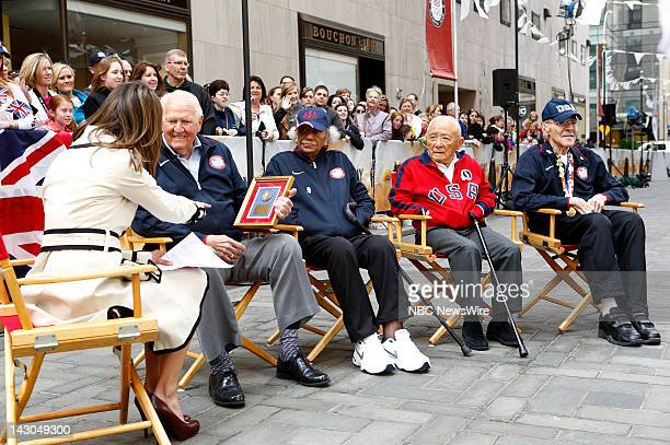 Natalie Morales Ray Lumpp Alice Coachman Sammy Lee and Mal Whitfield appear on NBC News' Today show