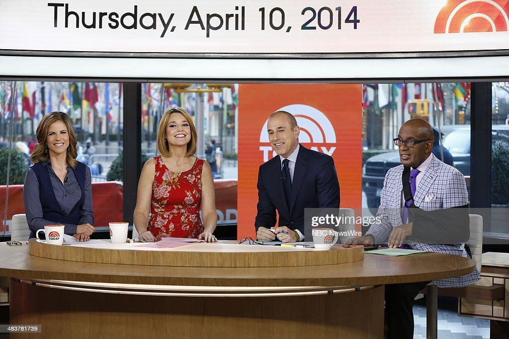 Natalie Morales, Savannah Guthrie, Matt Lauer, Al Roker appear on NBC News' 'Today' show --