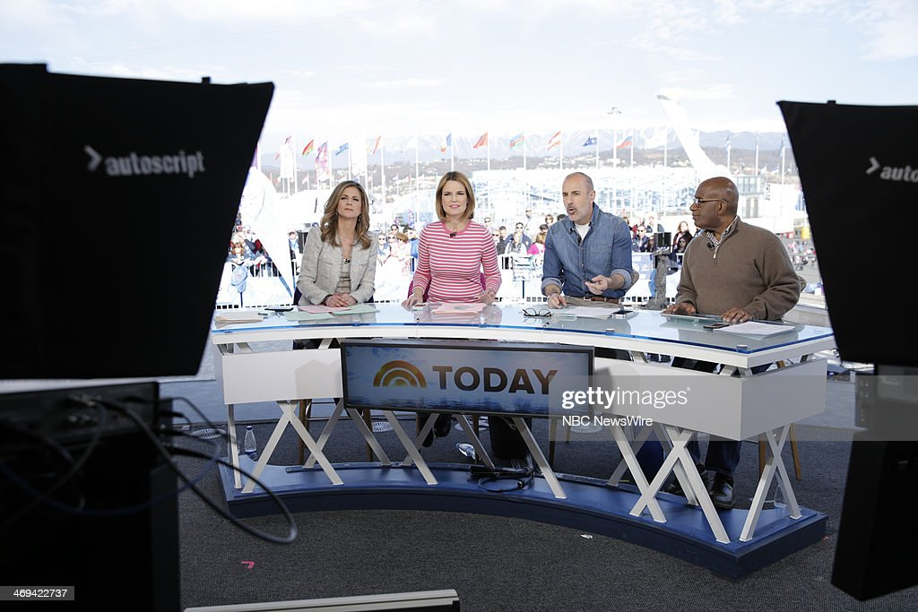 Natalie Morales, Savannah Guthrie, Matt Lauer from the 2014 Olympics in Socci --