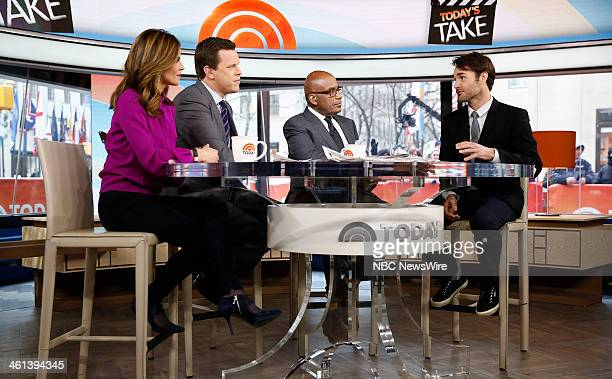 Natalie Morales Willie Geist Al Roker and Will Forte appear on NBC News' Today show