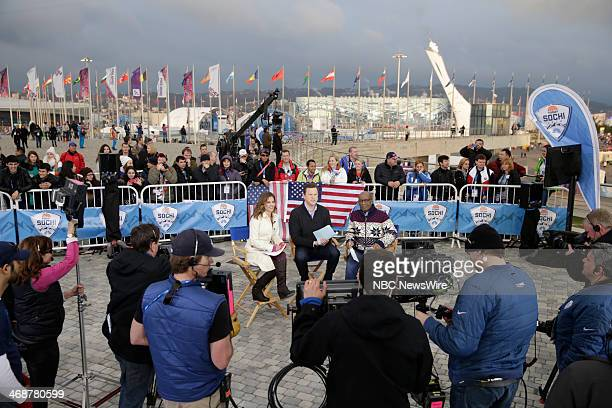 Natalie Morales Willie Geist Al Roker from the 2014 Olympics in Socci