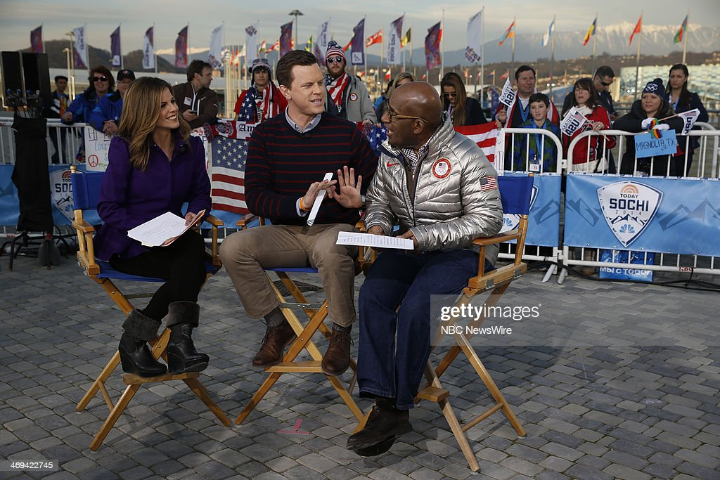 Natalie Morales, Willie Geist, Al Roker from the 2014 Olympics in Socci --