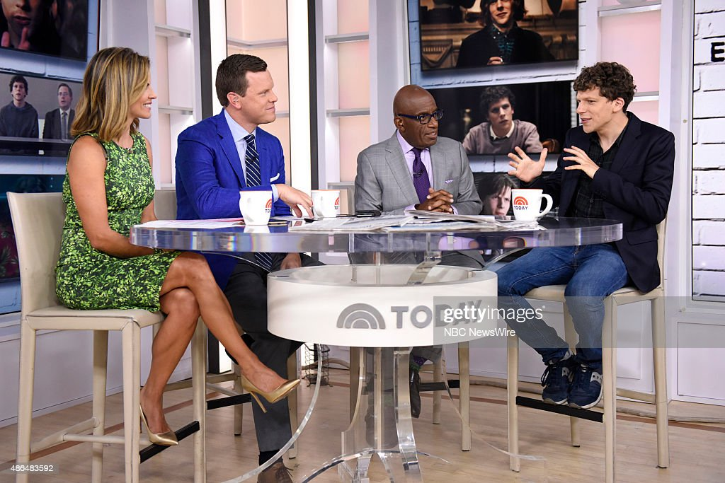 Natalie Morales, Willie Geist, Savannah Guthrie, Al Roker and Jesse Eisenberg appear on NBC News' 'Today' show --
